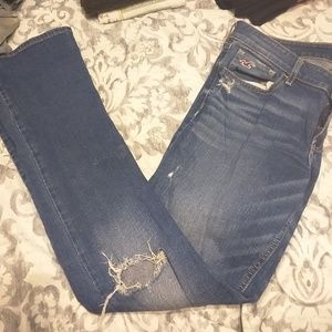 Hollister distressed jeans.